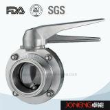 الفولاذ المقاوم للصدأ الصحية دليل الملحومة صمام فراشة (JN-BV1011)