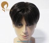 Toupee libero dei capelli umani di Remy di stile di alta qualità per l'uomo