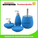 Accessoires de salle de bains en céramique avec 2 Lotion Pompe de pulvérisation Glazed