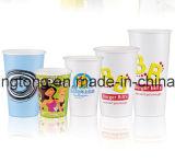 Únicos copos de café descartáveis 16oz do papel de parede