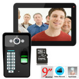' video campanello del telefono del portello 9 con la funzione della registrazione