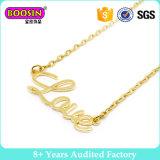 Juwelen van de Halsband van de Staaf van de Laag van de Tegenhanger van de Rekstok van de douane de Naam Gegraveerde Halsband Gepersonaliseerde Gouden