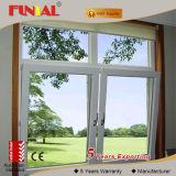 Finestra di alluminio verticale di profilo incorniciata alluminio della finestra di scivolamento, portello