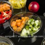 이전 투명한 두꺼운 둥근 관화 오리 과일 구색 물집 상자