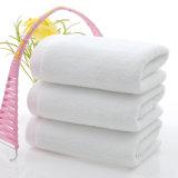 Kundenspezifische weiche normale weiße Baumwolltücher für Badezimmer
