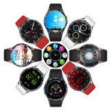 Kw88 3G, pantalla táctil en color Smart Watch, WiFi GPS Cámara Ver teléfono móvil, Ronda Full HD de pantalla táctil OLED Bt4.0 Mtk6580 Android Ver