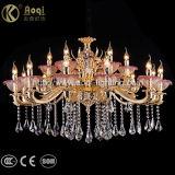 Luxury Golden lustre de cristal Light