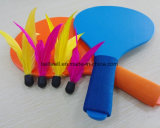 Большая игра крытой или напольной игры любит деревянная ракетка Badminton для малышей, подростка, твенов или даже более старых людей
