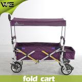 Chariots se pliants de bagage d'utilitaire de vacances compressibles à l'extérieur avec des roues