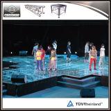 Evento de Dança Portátil Fase acrílico reguláveis em altura da plataforma