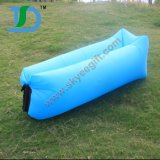 Sofá de ar portátil portátil de tiras de tecido de poliéster de 190t para atividades ao ar livre