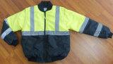 Revestimento reflexivo do piloto da roupa protetora da segurança do Parka impermeável do revestimento (SFT13)