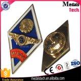 Emblema do xerife do metal da estrela de Sun do ouro de Matt da lembrança com pinos de segurança
