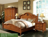 Houten Bed, het Dubbele Bed van de Grootte, het Bed van Ikea van de Stijl van Amerika (1606)