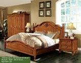 Cama de madeira, cama de casal, cama de estilo americano Ikea (1606)