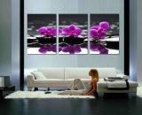Gestaltete Segeltuch-Druck-Segeltuch-Farbanstrich-Ausgangsdekoration-Plakat-Wand stellt Wohnzimmer dar