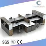 Stazione di lavoro delle sedi della scrivania di alta qualità 4 con il divisorio