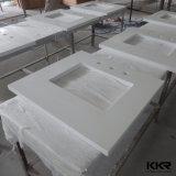 Parte superiore di marmo artificiale personalizzata di vanità della stanza da bagno della pietra del quarzo