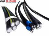 NFC Standardisolierung des aluminium-XLPE obenliegendes ABC-Kabel