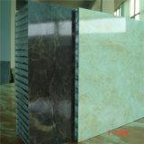 Revêtement mural extérieur en Chine Panneau composite en nid d'abeille composé de feuilles en aluminium / fibre de verre / voiture (HR246)
