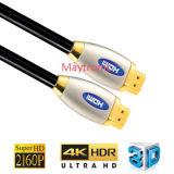 3D, 4k, 2160p, 18gbps를 위한 케이블 HDMI 케이블
