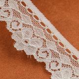 Cordon d'Afrique dentelle, fraisage élastique de la dentelle, coton Vêtements pour dames en dentelle de fraisage