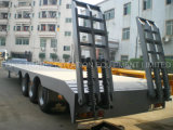 semi-remorque de 3axles Lowbed avec le blocage de 8 torsions (dimension 12350X3000mm de plate-forme)