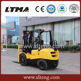 Forklift da tonelada LPG/Gasoline de China 3 com sistema hidráulico