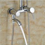 """Montage mural de style Ultathin poignée unique 12"""" du robinet de douche de pluie avec baignoire de pivotement de la tuyère"""