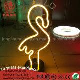 룸을%s 고품질 네온사인 훈장 LED 선인장 조각품 홍학 테이블 램프