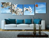 Blumen-Segeltuch-Drucken, Segeltuch-Druck, Kunst-Wand-Drucken 3 Stücke