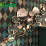 Cuarto de baño moderno decorativo redondo de metal de hierro forjado espejo de pared