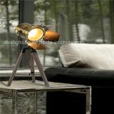 Hotsale modern für die Projekt-Dekoration-Fotographie, die hölzerne Stativ-Schreibtisch-Lampe beleuchtet