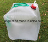 Im Freien20l, das zusammenklappbaren kampierenden Wasser-Träger faltet