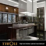 Gabinete de cozinha de lã de alto brilho MDF de alta qualidade para moradias