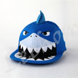 Borda Plana Snapback Fiftted filhos a tampa com o Shark