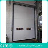 PVC 직물 음식 공장을%s 급속한 회전 셔터 문