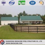Almacén con marco de acero prefabricado para el rancho con alta calidad
