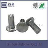 rebite 6X14 de alumínio contínuo principal liso