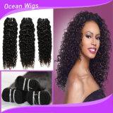 長続きがする安いバージンの巻き毛の波100%のブラジルの編む毛