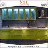 木の食器棚の光沢度の高い台所家具は食器棚を反スクラッチする