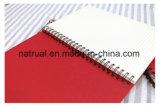 Le cahier promotionnel d'agenda de cuir de livre broché a estampé le cahier de couverture du logo pp