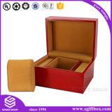 Contenitore di monili di carta di legno di Velet del cuoio di lusso del nastro