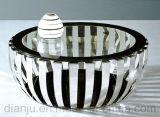 Table à canapé en verre à carreaux modernes en acier inoxydable (CT052L)