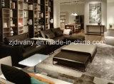 ヨーロッパ式のホームソファーの居間の革ソファーの家具(D-74)
