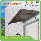 Toldo plástico material del pabellón de la aleación de aluminio de la protección de lluvia del balcón