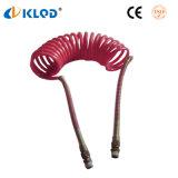 PU pneumatique Nylon Plastique polyuréthane flexible spiralé de 6 mm
