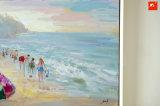 Het Olieverfschilderij van de Scène van het Strand van de Kunst van de Muur van de kust op Canvas