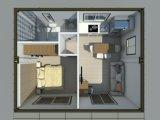 La construction préfabriquée modulaire de luxe/a préfabriqué la Chambre de récipient d'expédition pour la norme européenne