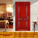 Porta de madeira interior moderna com cinzeladura (GSP2-058)